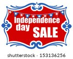 greeting and sale banner   4th... | Shutterstock .eps vector #153136256