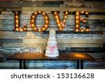 image of a wedding cake with... | Shutterstock . vector #153136628