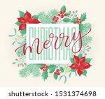 vector holidays lettering.... | Shutterstock .eps vector #1531374698