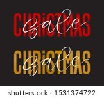 vector holidays lettering.... | Shutterstock .eps vector #1531374722