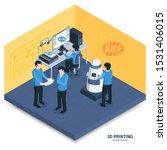isometric 3d printing... | Shutterstock .eps vector #1531406015