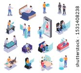 augmented virtual reality icons ...   Shutterstock .eps vector #1531408238