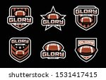 glory rugby sport logo design | Shutterstock .eps vector #1531417415