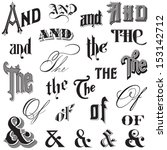 calligraphic ands and thes  ...