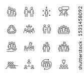 teamwork icon set  vector eps10. | Shutterstock .eps vector #1531458092