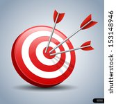 arrows hitting a target. one... | Shutterstock .eps vector #153148946