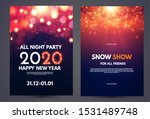 happy new 2020 year flyer... | Shutterstock .eps vector #1531489748