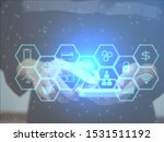 concept of cyber security and...   Shutterstock . vector #1531511192