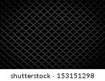 Wire Fence With Isolated Black...
