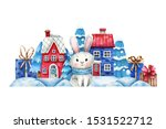 watercolor illustration with a... | Shutterstock . vector #1531522712