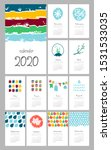 calendar 2020 year hand drawn.... | Shutterstock .eps vector #1531533035
