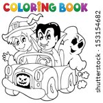 coloring book halloween... | Shutterstock .eps vector #153154682