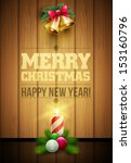 vector christmas objects and... | Shutterstock .eps vector #153160796