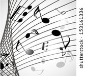 vector abstract musical... | Shutterstock .eps vector #153161336