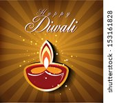 abstract diwali card design... | Shutterstock .eps vector #153161828