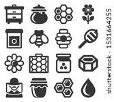 honey icons set on white... | Shutterstock .eps vector #1531664255