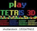 colorful tetris made alphabet...   Shutterstock .eps vector #1531679612