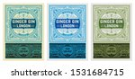 vintage label with gin liquor... | Shutterstock .eps vector #1531684715