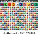 all national flags of the world ... | Shutterstock .eps vector #1531692398