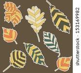 set of autumn leaves  eps 10 | Shutterstock .eps vector #153169982