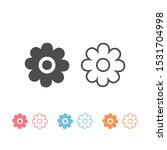 flowers icon set illustration...
