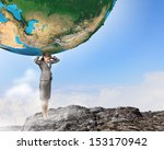 Image Of Businesswoman Holding...