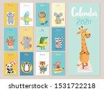 calendar 2020. cute monthly... | Shutterstock .eps vector #1531722218