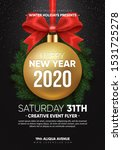 christmas party flyer design.... | Shutterstock .eps vector #1531725278