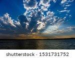 Sunset On A Lakein Oklahoma.