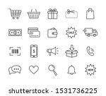 e commerce icon set. online... | Shutterstock .eps vector #1531736225