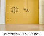 Yellow Wall Background With...