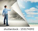 image of adult handsome man...   Shutterstock . vector #153174392