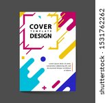 flat dynamic cover design.... | Shutterstock .eps vector #1531762262