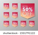 50  off fall seasonal sale tags.... | Shutterstock .eps vector #1531791122