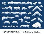 snow ice set winter roof cap... | Shutterstock . vector #1531794668