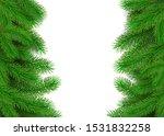 green fir branches border.... | Shutterstock .eps vector #1531832258