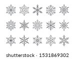 snowflake set of black isolated ... | Shutterstock .eps vector #1531869302