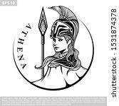 Illustration Of Athena Vector...