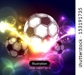 soccer ball on a transparent... | Shutterstock .eps vector #153191735