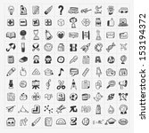 100 back to school doodle hand...