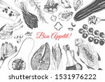 vector hand drawn organic food... | Shutterstock .eps vector #1531976222