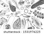 vector hand drawn food design... | Shutterstock .eps vector #1531976225