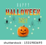 vector halloween illustration... | Shutterstock .eps vector #1531983695