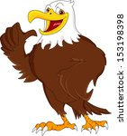 eagle cartoon thumb up | Shutterstock .eps vector #153198398