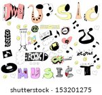 doodles funny music background | Shutterstock . vector #153201275