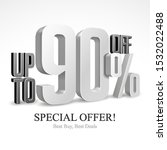 up to 90  off special offer... | Shutterstock .eps vector #1532022488