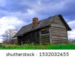 An Old Wooden Bath House On The ...