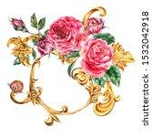 Watercolor Golden Baroque...