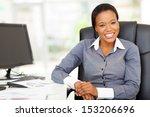 smiling african businesswoman... | Shutterstock . vector #153206696