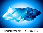 abstract geometric vector... | Shutterstock .eps vector #153207812